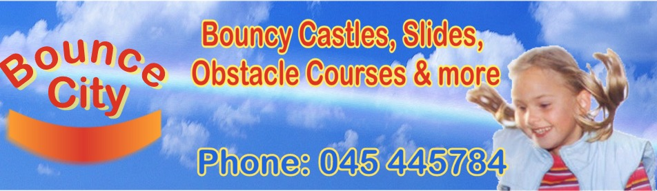 Bounce City, Kildare. Bouncy Castle, Bouncy Slides & Obstacle Cources,  Inflatable & Sumo Suit Hire., Bouncy Castle Rain Covers, Blower Replacements & Repairs